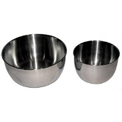 Stainless Steel Replacement Bowl Set - Fits Sunbeam/Oster Mixers