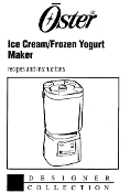 Oster Ice Cream Maker Manual (Download)
