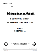 KitchenAid K5-A / K45 / 4c - Use and Care Manual