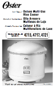 Oster Model #4715 4717 4721 Rice Cooker Manual (Download)