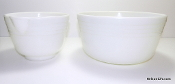 Hamilton Beach Milk Glass Mixing Bowls - Pyrex